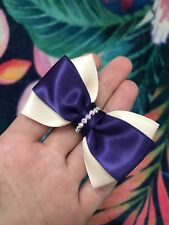 BEAUTIFUL GIRLS OR WOMENS HANDMADE  BOW HAIR BAND MADE WITH SWAROVSKI ELEMENTS