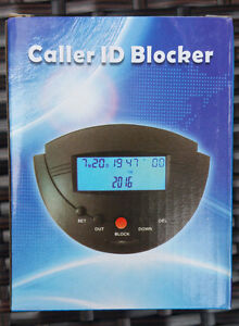 PA009B Landline Call Blocker Blacklist Caller ID Display Box Dual Signal BLACK