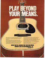 1978 HOHNER Acoustic Guitar Jacaranda Rosewood Dreadnaught Vtg Print Ad