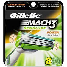Gillette - Mach 3 - Sensitive - Power AVEC Pile - 8 Cartridges