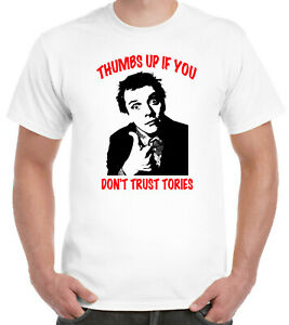 Thumbs Up If You Don't Trust Tories T-Shirt Kevin Turvey Labour Socialist Green