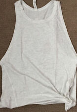 NWT LULULEMON Tie & Go Tank Size 10 Heathered White Fitness & Yoga Sold Out!
