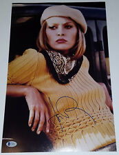FAYE DUNAWAY Signed 11x17 Bonnie Parker and Clyde Movie Photo Beckett COA BAS