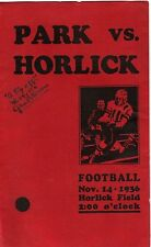 Vintage RACINE PARK vs. RACINE HORLICK 1936 Football Program WISCONSIN Scarce