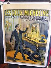Affiche Originale Les deux Michelines Maldague Petit Journal Louis Galice Paris