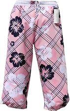 Bermuda uomo donna da bagno Pantaloni Cargo Pantaloncini Da Bagno Rosa Pink in l