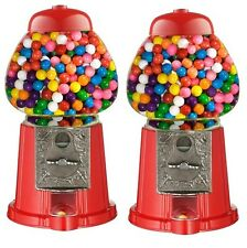 2 X Mini Gumball Dispenser Machine Toy With Bubble Gum Party Bag Coin Operated