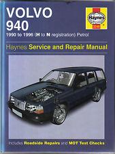 Volvo 940 Haynes Service & Repair Manual 1990-1996 H to N reg. Petrol