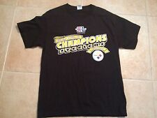 PITTSBURGH STEELERS SUPERBOWL XL/40 2006 CHAMPIONS BLACK MEDIUM T-SHIRT NWOT