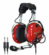 NEW C40R COBRA PILOT AVIATION HEADSET (RED)