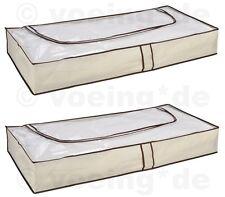 2 Stück Unterbett Kommoden Unterbettkommode Unterbett Kommode atmungsaktiv beige
