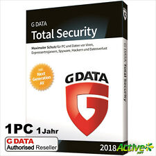 G DATA Total Protection 1 PC 2018 VOLLVERSION / Upgrade GDATA Total Security NEU