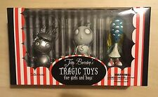 Tim Burton's TRAGIC TOYS for Girls & Boys Pack Figure Set NEW Robot Stain boy