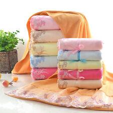 Luxury Lace towel set 2pcs. Bath Towel & Face Towel Super Soft Water Absorption