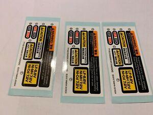 Tamiya On/Off Caution Decal Sheet x3 TT01/TL01/TB02/TA04/TA05/TA06/M05/TT02/TRF