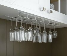 Rack and Hook Stemware Glass Rack Black Wine Glass Hanger Under Cabinet Storage