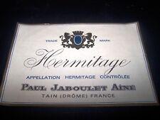 etiquette vin magnum Hermitage Paul Jaboulet ainé côtes du rhone wine label