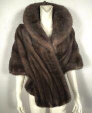 OPULENT MINK FUR Stole Fur Backed Collar Bridal Wrap Shawl Jacket EXC!!! Vintage