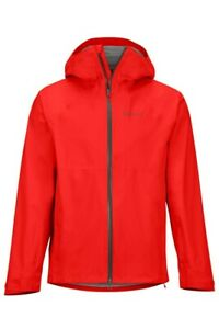 Marmot Precip Stretch Jacket Men Lightweight Rain Jacket for Men Red Size L