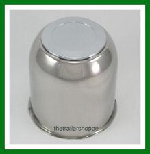 Stainless Steel Chrome Center Cap Cover FOR Trailer Wheel EZ Lube 4.25