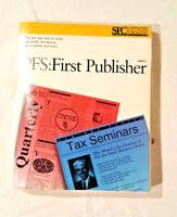 Vintage SPC Software PFS: First Publisher Includes Disk