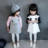 2-7Y Toddler Baby Girls Kids Casual Long Sleeve Tops Party Princess Tutu Dress