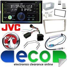 VAUXHALL ANTARA JVC Double DIN Bluetooth CD MP3 USB Voiture Stéréo Beige Stone Kit
