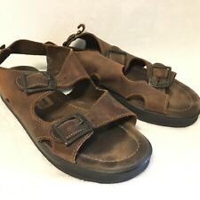 Eastland Size 10 1990's Brown Leather Sandals