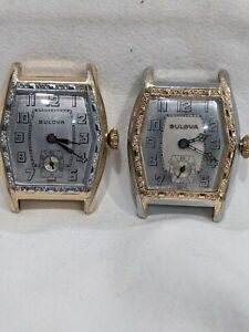 Vintage Bulova 1931 SKY KING Watches PAIR of 2 Reverse Colors For Service Nice!!
