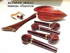 ROSEWOOD VIOLIN 4/4 FITTINGS SET :HARP-MORAWITZ FRENCH STYLE GOLD GRADE FITTINGS