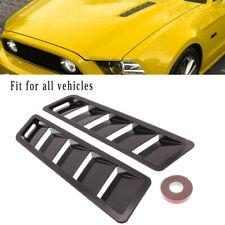 2x Universal Car Bonnet Hood Vent Louver Cooling Panel Trim Black New