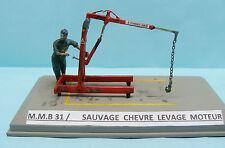 M.M.B 031 / KIT RESINE / SAUVAGE CHEVRE LEVAGE GARAGE 1/43