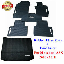 Heavy duty rubber floor mats + Cargo Boot Liner for Mitsubishi ASX 2010 - 2019