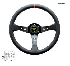 OMP Corsica Professional Steering Wheel - 350mm - Black with Red Stitch OD1956NR