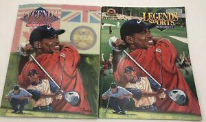 (2) Tiger Woods Legends Sports Memorabilia Magazine 2001 Masters Hobby Edition