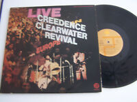 LP 33 TOURS , CREEDENCE CLEARWATER REVIVAL , LIVE EUROPE 2 LP . VG - / VG ++