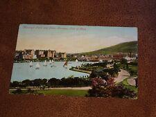 1905 fr Postcard- Mooragh Park & lake Ramsey - IOM - Isle of Man - Sailing boats