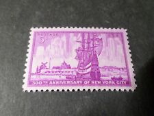 ETATS UNIS USA 1953, timbre 578, BATEAU VOILIER, NEW YORK SHIP, neuf**, VF MNH