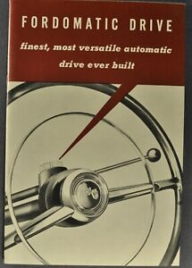 1952 Ford Fordomatic Brochure Crestline Mainline Customline Excellent Original