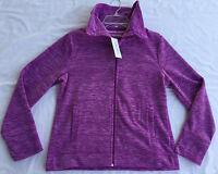 new Calvin Klein Icey Performance Active Fleece Jacket PFRJ5805 Women's M Purple