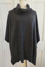 Magaschoni Dark Grey Cashmere Poncho – Medium/Large - $498