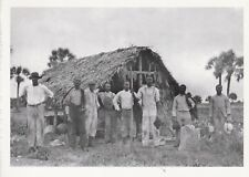 """*Postcard-""""Farm Workers @ Seminole-Style Chickee/Storage Shed"""" *Florida (A36-1)"""