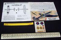 Mid 1960s Vintage Airfix Header & Decal (No Kit) RAF Boulton Paul Defiant (L17)