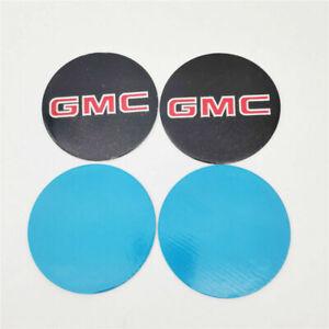 "4x 3.5"" 8 Lug Wheel Hubcap Cap Decal Sticker For GMC Sierra Yukon 1500 2500 3500"