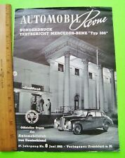 rare 1952 MERCEDES BENZ TYPE 300 BROCHURE Automobil Revue Testbericht IN GERMAN