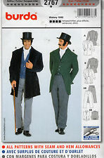 2767 NEW BURDA MEN'S HISTORICAL 1848 COSTUME Pattern Sz 34-50 PANTS, VEST, JACKE