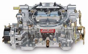 Edelbrock 1411 Performer 750CFM Electric Choke Carb / Carburettor - Satin Finish