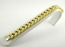 Unisex Armbänder ohne Steine im Kette-Stil aus Gelbgold mit echtem Metall