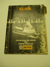 SKIDOO 1982 ELAN  PARTS CATALOG MANUAL