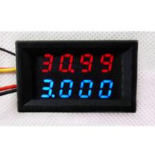 DC Voltmeter Ammeter Blue LED Dual Digital Volt Amp Meter 0mA-3.000A